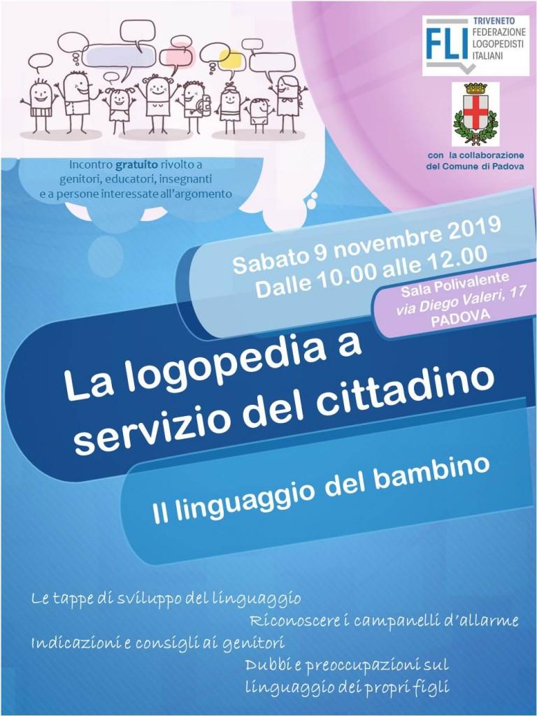 Locandina incontri padova cittadino linguaggio